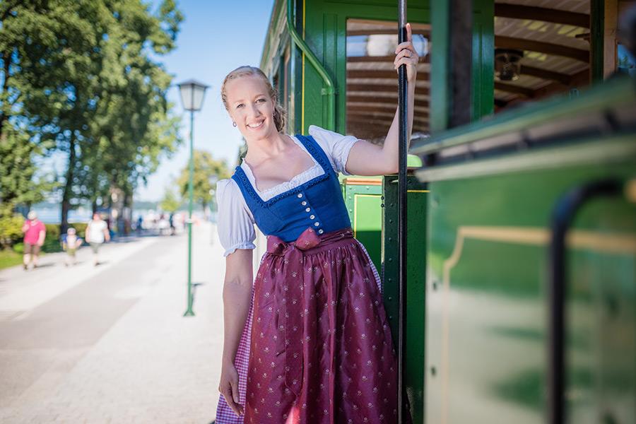 Anke Wöhrer in der Chiemsee-Bahn