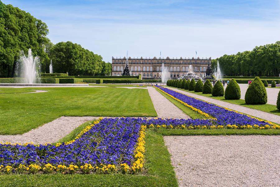 Garten von Schloss Herrenchiemsee
