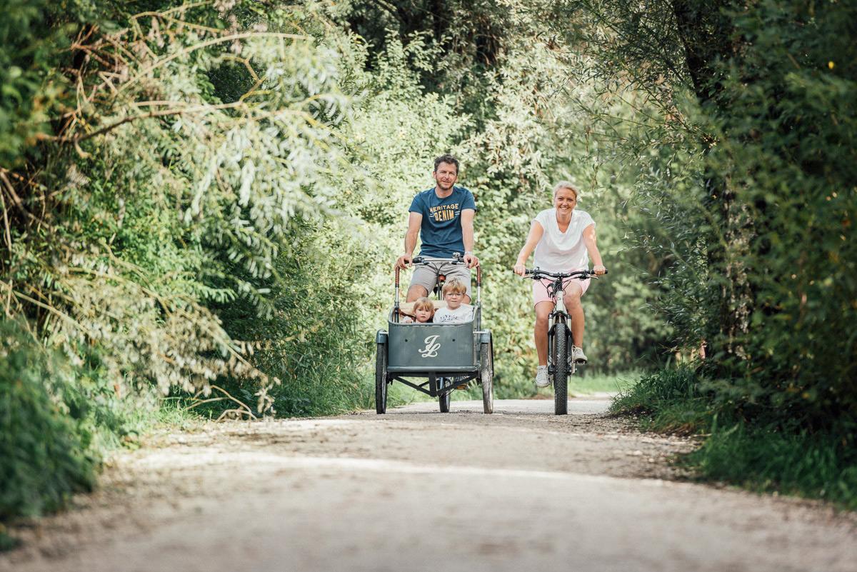 Radeln mit der Familie am Chiemsee