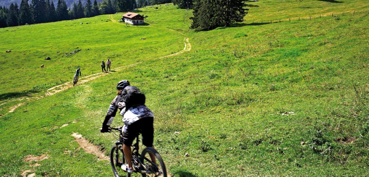 Mit dem Mountainbike auf die Frasdorfer Hütte