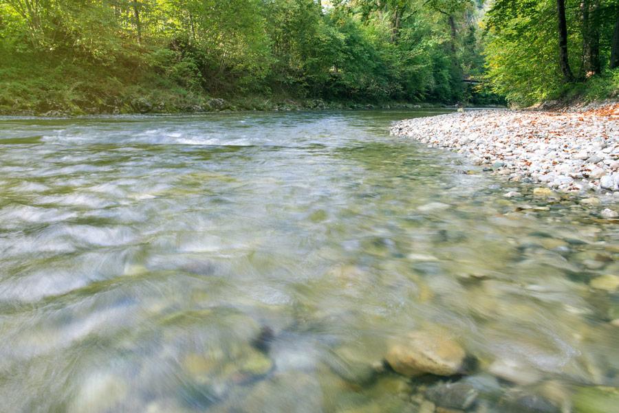 Der Fluss Prien im Eichental