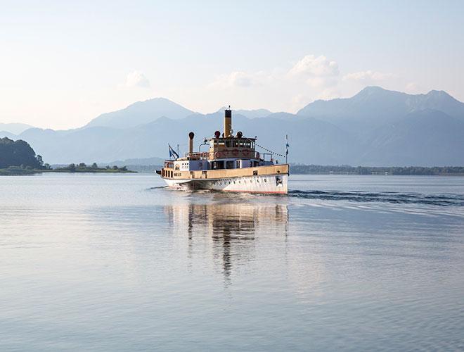 Schifffahrt am Chiemsee/Sparen mit Kombitickets