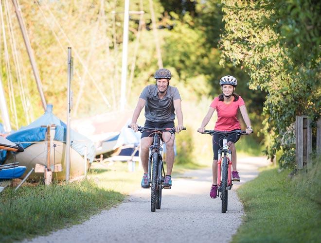 Radfahren in der Umgebung des Chiemsees