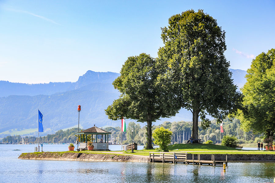 Die Landzunge in Prien am Chiemsee