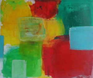 Moosmüller, Farbenfest, 2020, 90 x 100 cm